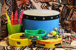 Instruments used during storytelling at Coconut Nursery