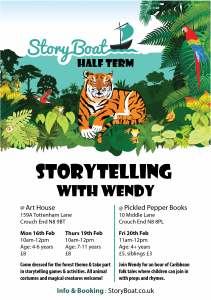Flyer of storytelling over half term