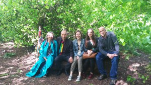 Storytellers catching up on Tooting Bec Common