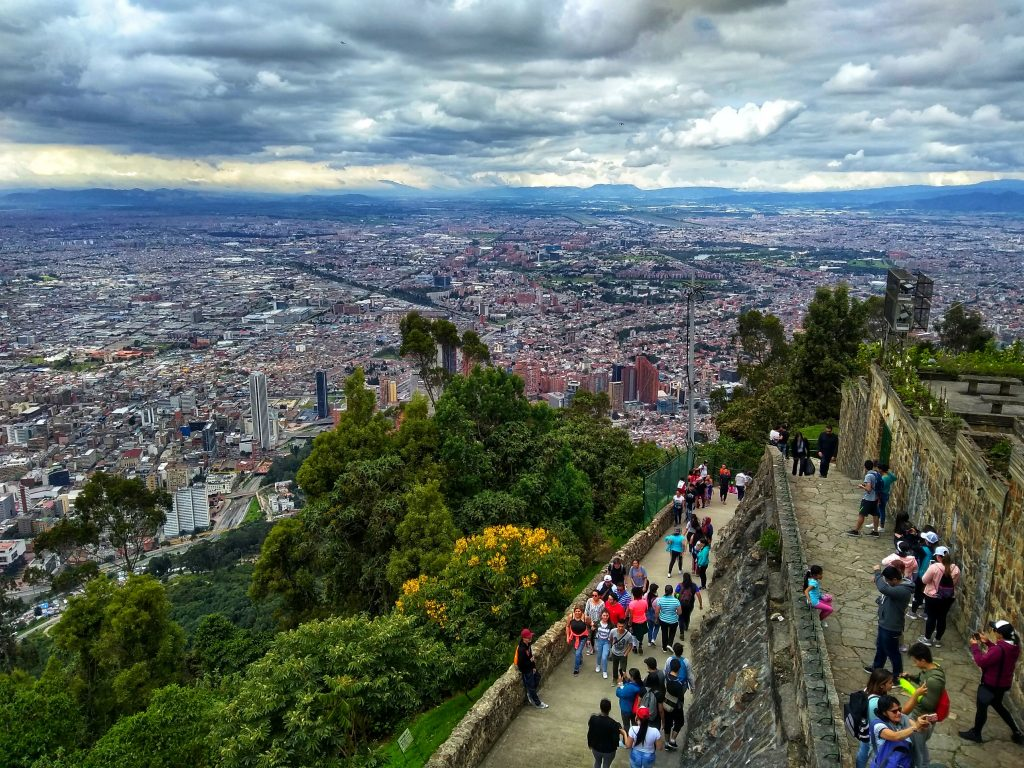 View from the top of Monserrate Mountain, Bogotá