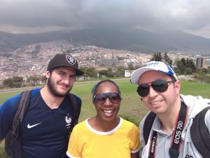 Wendy Shearer overlooking Quito, Ecuador