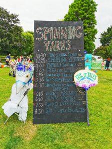 Spinning Yarns storytelling board