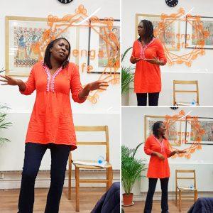 Wendy Shearer storytelling at Thenga Cafe